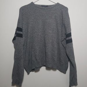 Grey striped Brandy Melville sweater